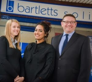 Some of the specialist Personal Injury team at Bartletts Solicitors