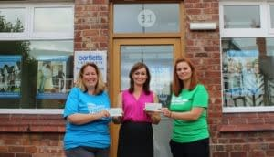 LtoR Sarah Green from Parkinson's UK, Nina Sperring Bartletts Solicitors, Amy Hulston Macmillan Cancer Support